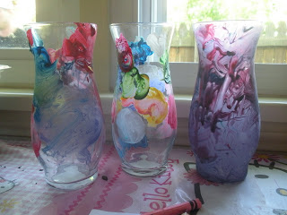 Painted Vases - {The Preppy Strawberry}