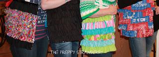 No Sew Ruffle Tote Tutorial {The Preppy Strawberry}
